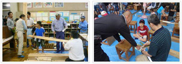 神奈川建設ユニオンこども木工教室